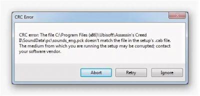 Ошибка данных crc на флешке как исправить?
